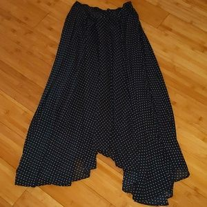 Free people asymmetrical boho polka dot skirt sm